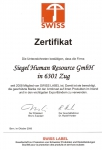 swiss-label-zertifikat